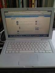 white macbook,  MINT condition with photoshop