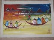 Ghanaian paintings and other artwork...from GHANA (West Africa)