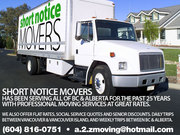 Short Notice Movers 604-816-0751