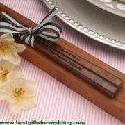 Wedding Gifts - Engraved Personalized Fine Wood Chopsticks