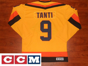 CCM Vancouver Canucks #9 Tony Tanti Authentic Yellow Vintage Jersey