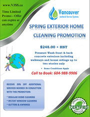    EXTERIOR HOME CLEANING PROMOTION $248  