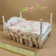 1:12 Dollhouse Miniature 4 Post Bed Wood Furniture Victorian Princess