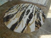 6' Round Handmade Carpet Area Rug 100% Wool Rugs Trees Abstract Painti