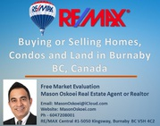 Buying or Selling Condos,  House and Land in Burnaby BC by Realtor MLS