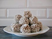 vancouver healthy foods, coconut lemon cashew balls