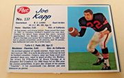 1962 POST CFL #137 JOE KAPP B C LIONS CREASE FREE-RARE CARD.