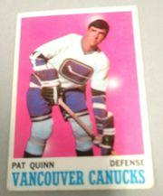 1970-71 topps #120 Pat Quinn Vancouver Canucks