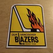 1974 VANCOUVER BLAZERS ORIGINAL DECAL STICKER WHA