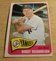 1965 Topps  #115 Bobby Richardson New York Yankees
