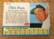 1962 Post Cereal #3 Clete Boyer New York Yankees