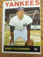 1964 Topps # 190 Bobby Richardson New York Yankees EX cond