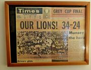1964 Vancouver Times newspaper BC LIONS WIN GREY CUP original
