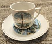 Vintage 1962 SeattleWorlds Fair Space Needle Souvenir Mini Cup&Saucer