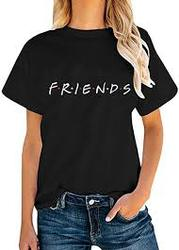 Friends TV Show T-Shirts Womens Summer Casual Short Sleeve Tops Graphi
