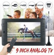 12V 9 inch HD Portable Mini WiFi Digital and Analog TV