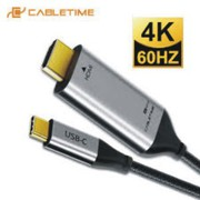 2020 CABLETIME USB C to HDMI 90degree Cable Adapter