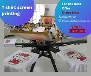 T-shirt with Screen Printing as your choice
